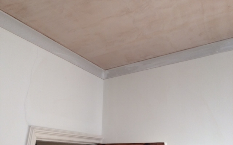 Acoustic ceiling - Plastered with new coving